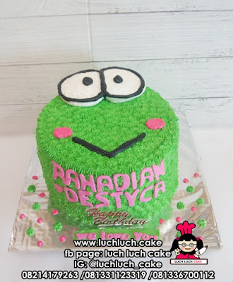Kue Tart Ulang Tahun Keropi Buttercream