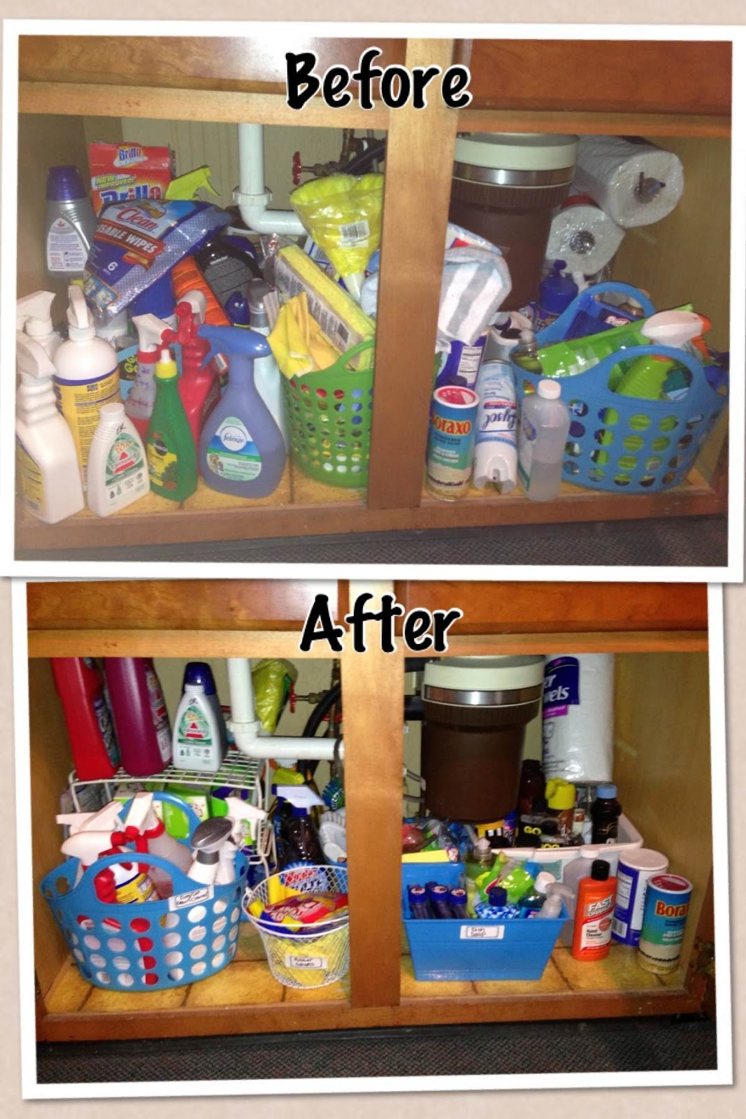 Ask Away Blog An Organized Kitchen Sink Cleaning Cupboard