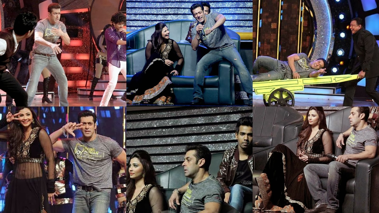 Salman and Daisy dancing in Dance India Dance show to promote Jai Ho movie