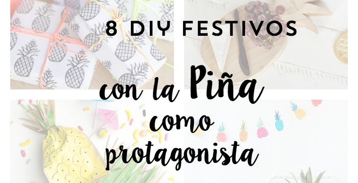 8 diy festivos inspirados en la Piña- 8-diy-pineapple