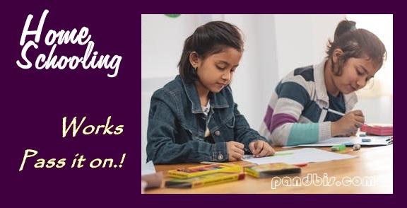 Anak belajar di home schooling atau rumah belajar
