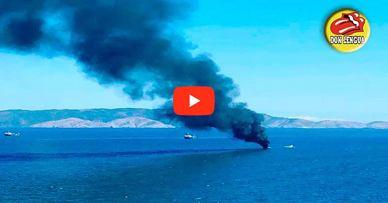 Tanquero petrolero de PDVSA se quemó en la bahía de Pozuelos