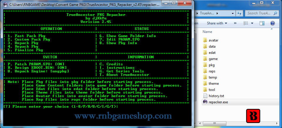 Create PKG Game From CFW2OFW - Convert CFW2OFW to Pkg Game