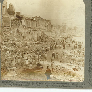 Rescuers dig through the rubble in Messina