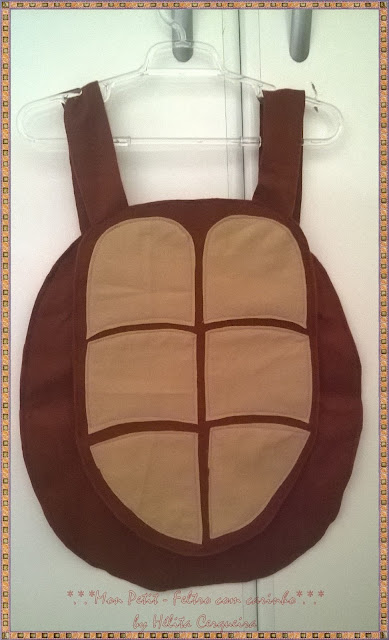 fantasia-tartarugas ninja-em feltro-Ninja Turtles-casco