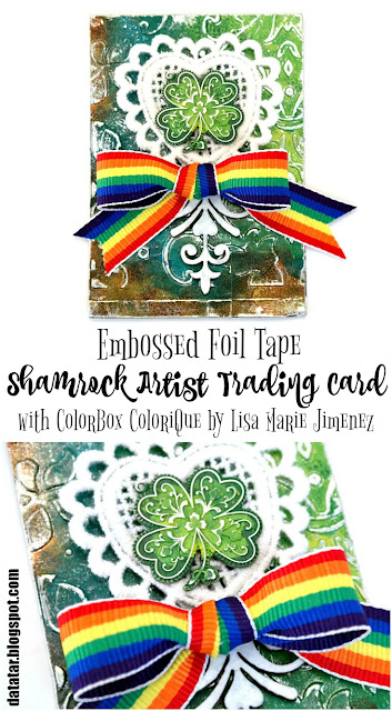 How to Add Color to Embossed Foil Tape with ColorBox ColoriQue