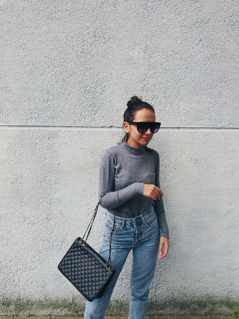 ps minimalist blog,personal style fashion and beauty blogger valentina batrac,teen croatian bloggers,hrvatske modne blogerice,fall 2017 trends and outfit ideas, casual outfits for warm autumn days,how to style high waisted straight leg jeans from h&m, weekend minimal outfits for teens for school and college