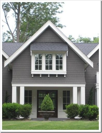 Ideas for the house on pinterest grey siding vinyl - White house with grey trim ...