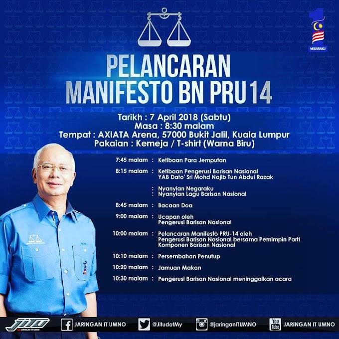 Barisan Nasional Akan Lancarkan Manifesto Sabtu Ini #BetterNation