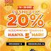 Shopee birthday sale Cashback 20% 15 - 20 Desember 2017