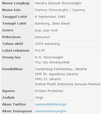 gambar Profil Biodata Lengkap Sammy Simongkir