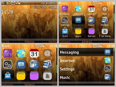 Brown dark theme Asha 302 Asha 200 Asha 201 C3-00 X2-01