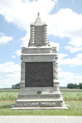 6th New York Cavalry Monument - Gettysburg Battlefield