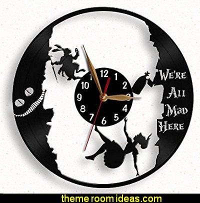 Alice in Wonderland wall clocks