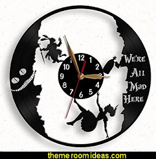 Alice down the rabbit hole clock.