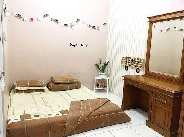 Denah ruang tidur utama tipe 60 3 dimensi tampak dari depan