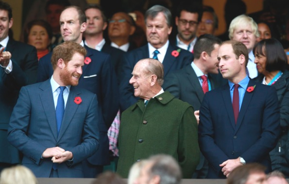 Prince William And Harry Enjoy Rugby World Cup Final With Grandfather Prince Philip