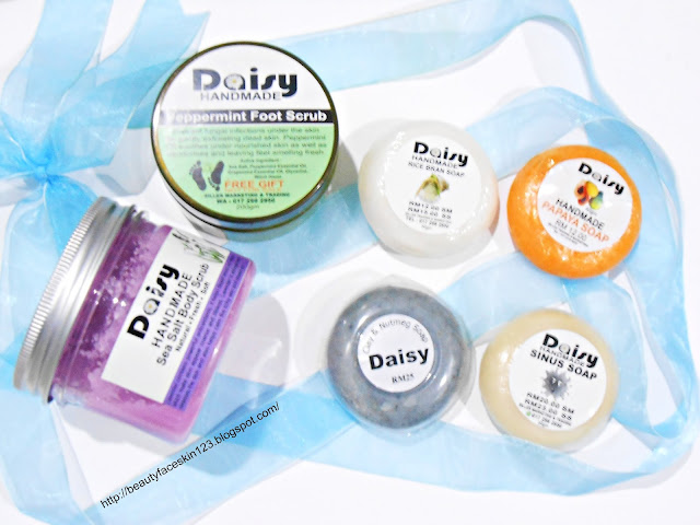 MALAYSIA DAISY HANDMADE BODY PRODUCTS-PAPAYA SOAP,RICE SOAP, SINUS SOAP,CLAY SOAP,PEPPERMINT FOOT SCRUB&SEA SALT BODY SCRUB