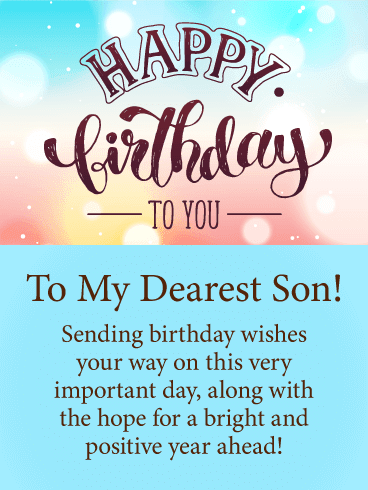 Happy Birthday Son Wishes | Quotes | Messages and Images