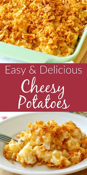 EASY CHEESY POTATO CASSEROLE