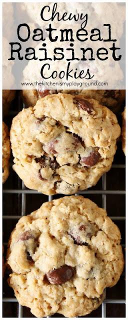 Chewy Oatmeal Raisinet Cookies