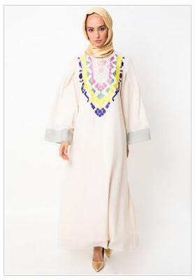Kreasi Model Baju Bordir Muslim Modern Terbaru