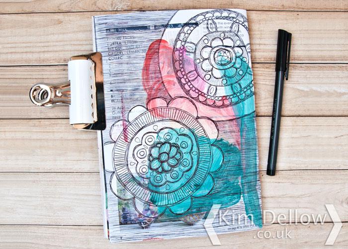 Kim Dellow ballpoint pen mandalas