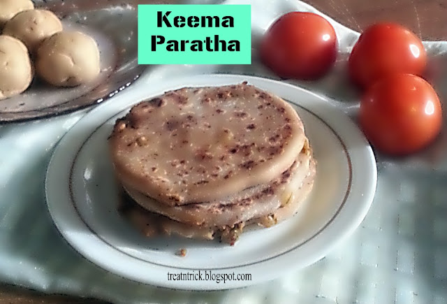 Keema Paratha Recipe @ treayntrick.blogspot.com