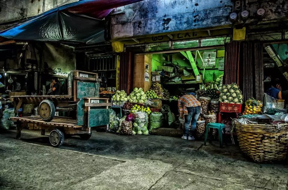 Stacked Porter Carts Baguio City Public Market Hanger Section Cordillera Administrative Region Philippines