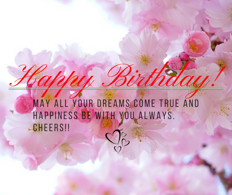 Peachy May All Your Dreams Come True And Happiness Be With You Always Personalised Birthday Cards Bromeletsinfo