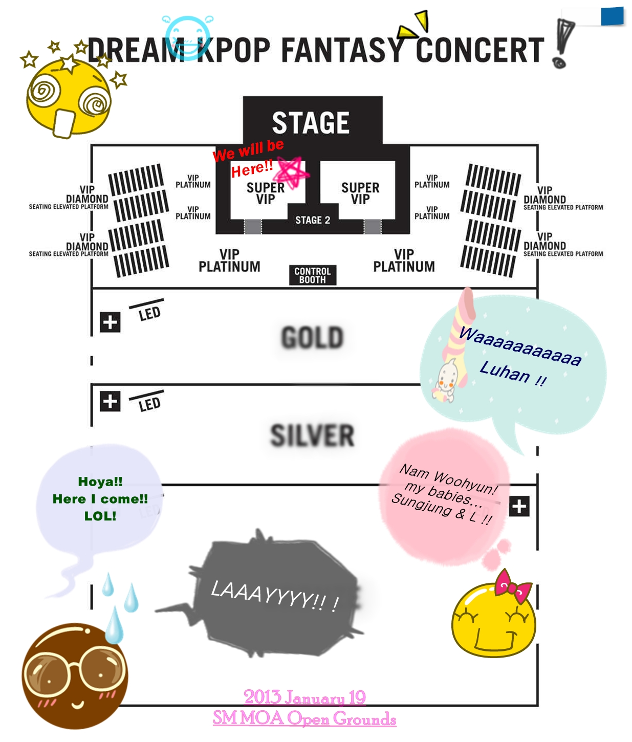 We are going to DKFC!!: Dream Kpop Fantasy Concert Stage Layout