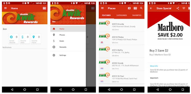 double kwik Rewards mobile app - Youth apps