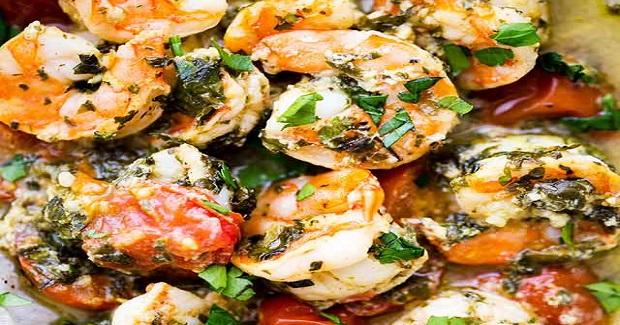 Lemon Garlic Herb Shrimp In Packets Recipe