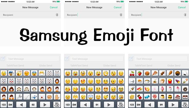 Mobile Font Samsung Emoji TTF Font