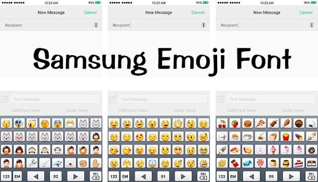 Mobile Font:Samsung Emoji TTF Font