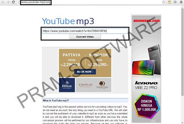 Mendownload Youtube Format MP3 Dengan Situs www.youtube-mp3.org