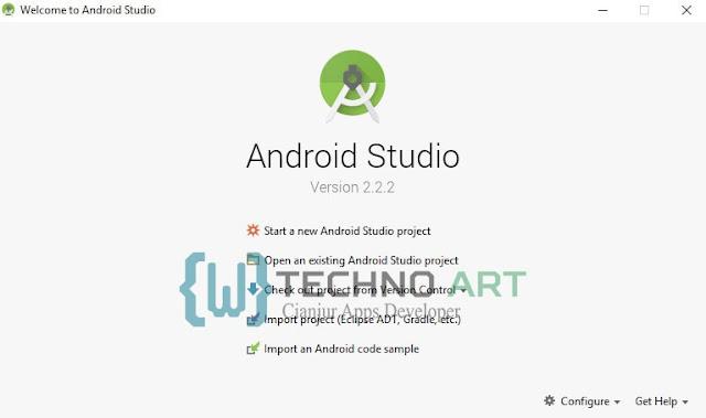 Daftar List menu untuk membuat project pada Android Studio