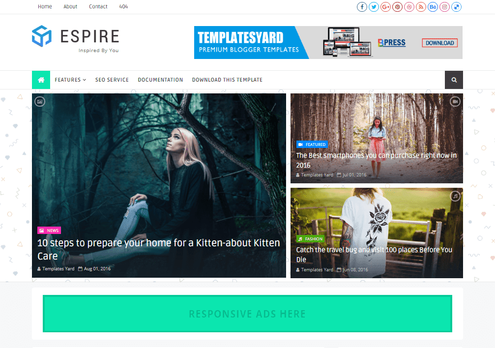 Espire Stylish Blogger Template