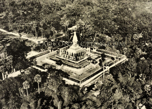 Old Aerial Photo of Tat Luang Surrounded by Forests