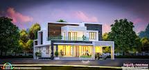 2512 Square Feet Beautiful Flat Roof 4 Bhk Home - Kerala