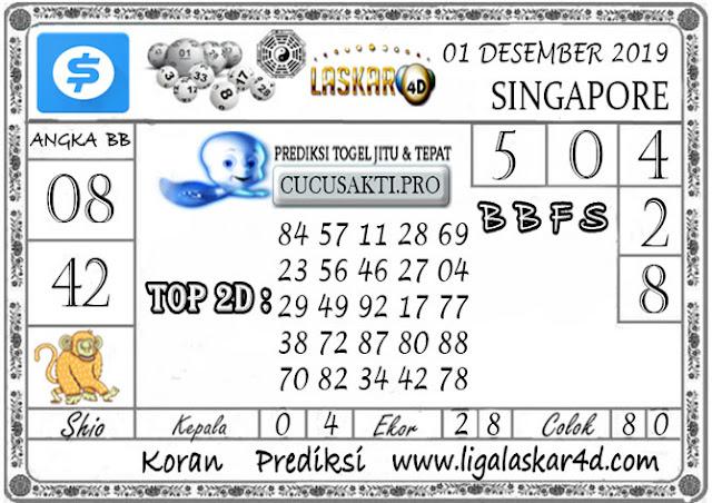 Prediksi Togel SINGAPORE LASKAR4D 01 DESEMBER 2019