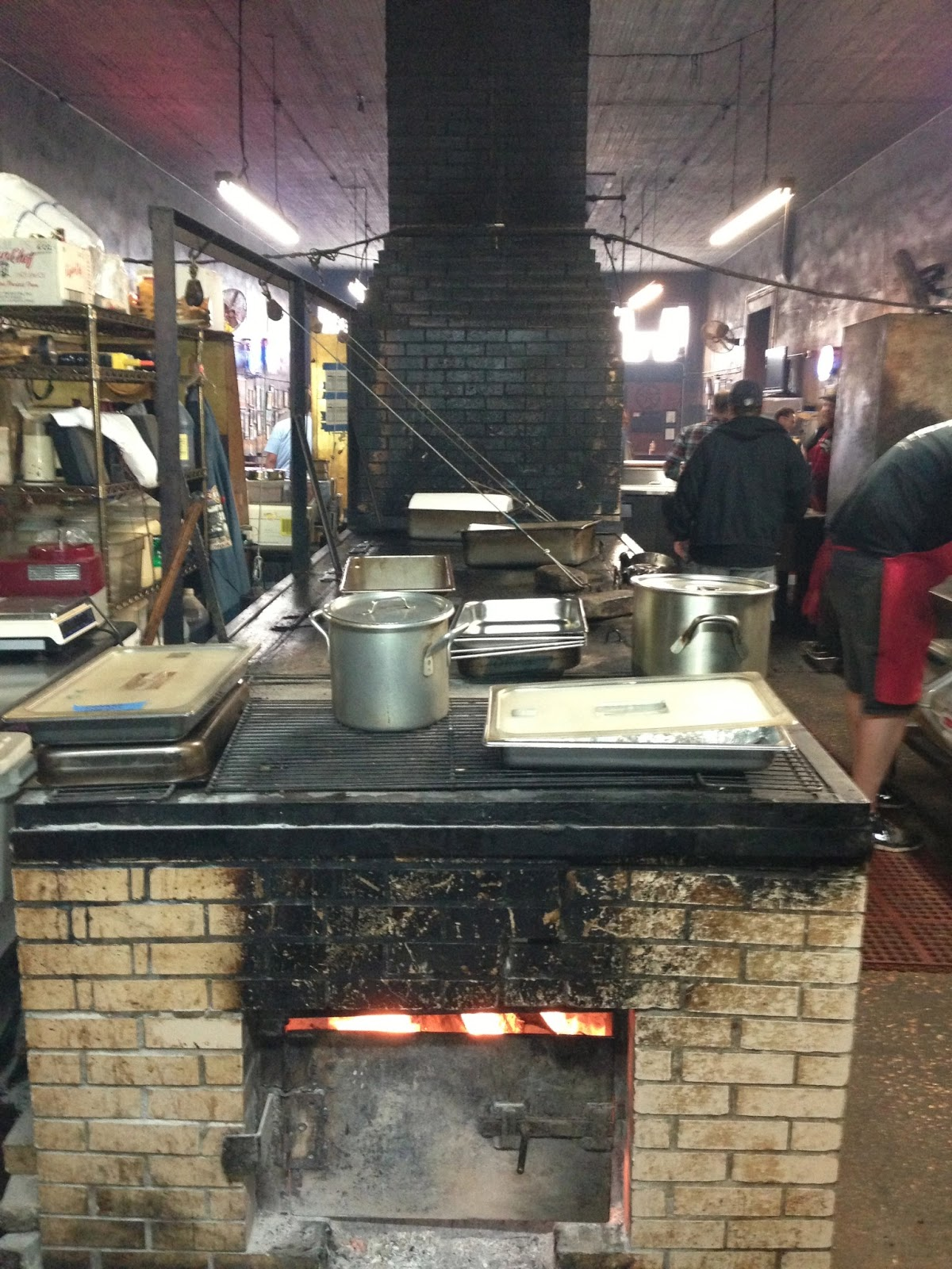 Man Up: Tales of Texas BBQ: In the kitchen at Louie ...