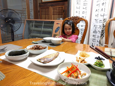 Staying in a traditional hanok stay in Seoul with small children
