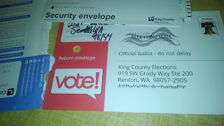 RantWoman's signed Ballot Envelope