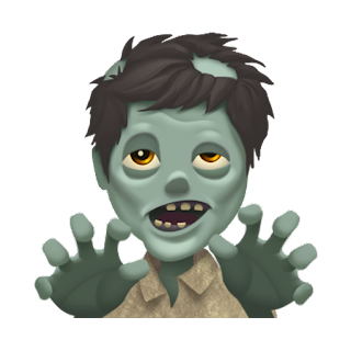 Zombie Apple Emojis for 2017