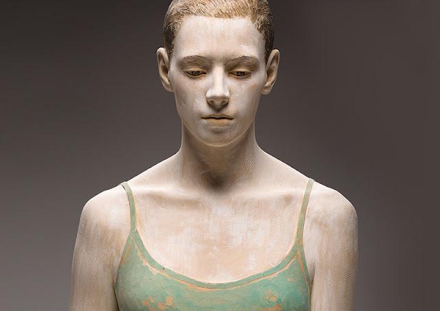Bruno Walpoth Figural Wood Sculptures