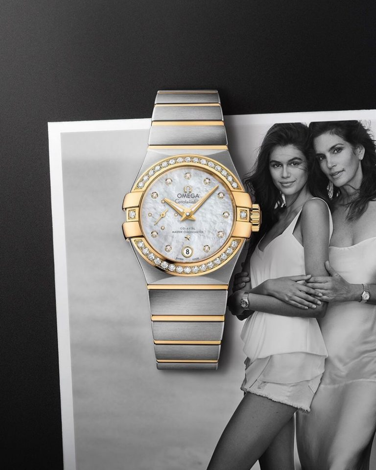 Kaia Gerber and Cindy Crawford for OMEGA Watches