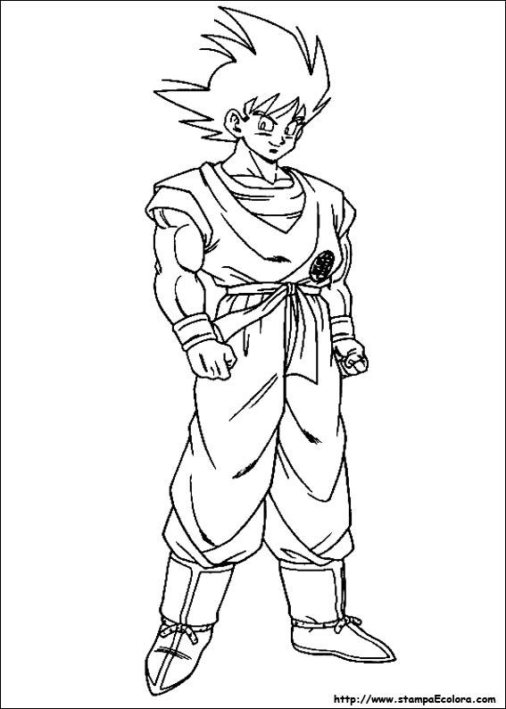 Immagini Di Dragon Ball Gt Da Colorare