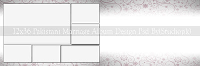 12x36 Wedding Album Design Psd