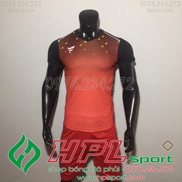 Áo bóng đá ko logo TA HAT Matic màu đỏ